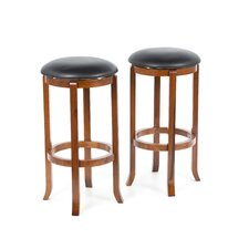 "30"" Walnut Swivel Barstool (Set of 2)"