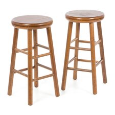 "24"" Backless Swivel Counter Stool (Set of 2)"
