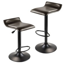 Paris Adjustable Height Swivel Bar Stool (Set of 2)
