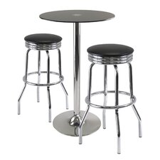 <strong>Winsome</strong> Rossi 3 Piece Pub Table Set