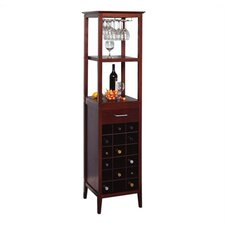 Espresso 18 Bottle Wine Rack