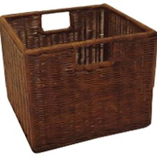Espresso Wicker Storage Basket (Set of 3)