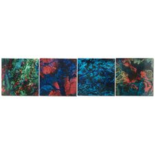 Bright Lights 4 Piece Graphic Art Plaque Set