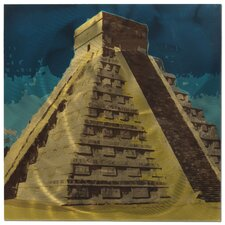 Chichen Itza Painting Print Plaque