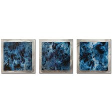 Essence Storm 3 Piece Graphic Art Plaque Set