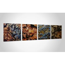 Mother Earth 4 Piece Graphic Art Plaque Set