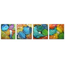 Sunny Days 4 Piece Graphic Art Set