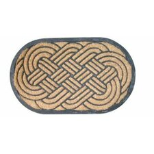Bootscraper - Recycled Rubber and Coir Lovers Knot Doormat
