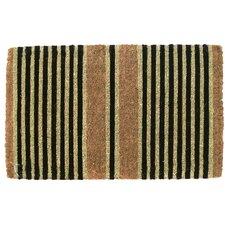 Handwoven Extra Thick Ticking Stripes Coconut Fiber Doormat