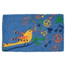 Hippie Bird Handwoven Coconut Fiber Doormat