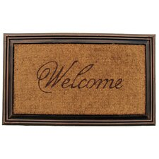 Faux Wood Welcome Doormat