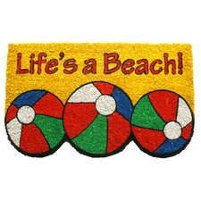 Sweet Home Life's a Beach Doormat