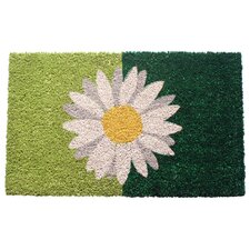 Sweet Home Green Daisy Doormat