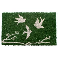 Sweet Home Trio of Birds Doormat