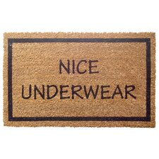 Sweet Home Nice Underwear Doormat