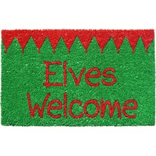 Sweet Home Elves Welcome Doormat
