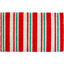 Sweet Home Candy Cane Stripes Doormat