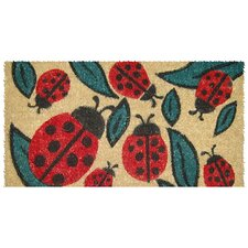 <strong>Entryways</strong> Lady Bugs Handwoven Coconut Fiber Doormat