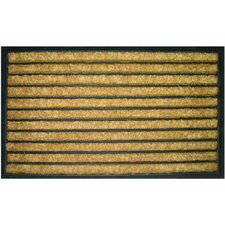 Bootscraper - Recycled Rubber and Coir Striped Doormat