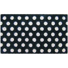 Mid Thickness Coir Polka Dots Coconut Fiber Doormat