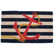 <strong>Entryways</strong> Anchor Handwoven Coconut Fiber Doormat