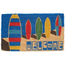 <strong>Entryways</strong> Surf Boards Doormat Handwoven Coconut Fiber Doormat