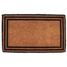 Handwoven Extra Thick the One with the Border Coconut Fiber Doormat