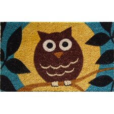 <strong>Entryways</strong> Wise Owl Handwoven Coconut Fiber Doormat