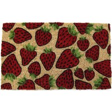 Handmade Strawberries Doormat