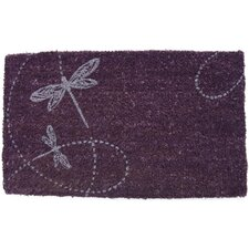 Handmade Two Twirling Dragonflies Doormat