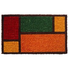 Handmade Color Blocks Doormat