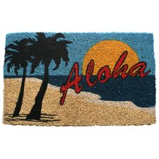 <strong>Entryways</strong> Aloha Beach Handwoven Coconut Fiber Doormat
