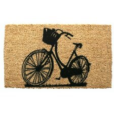 Bike Handwoven Coconut Fiber Doormat