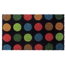 Dots Handwoven Coconut Fiber Doormat