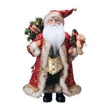 Santa with Coat and Teddy Bear