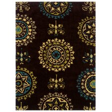 Bombay Brown Suzani Rug