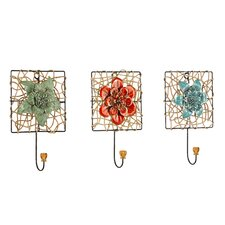 Melanie Floral Wall Hook (Set of 3)
