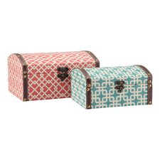 Geometric Storage Boxes (Set of 2)