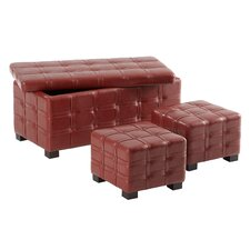 Tribeca Storage Ottoman (Set of 3)