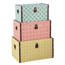<strong>Bombay Heritage</strong> Geometric Trunks Trio (Set of 3)