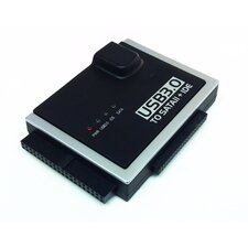 """USB 3.0 to SATA II + 3.5"""" IDE and 2.5"""" IDE Converter with Power Adapter"""
