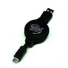 USB 2.0 A to Micro USB Retractable Cable