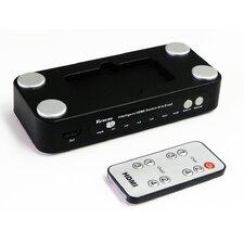 HDMI Intelligent Switch, 4 x 2 Real Matrix - 4 Input 2 Output - Support 3D