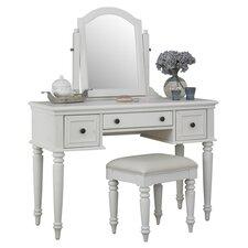 Bermuda Vanity & Stool Set