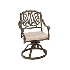 Floral Blossom Swivel Dining Arm Chair with Cushion