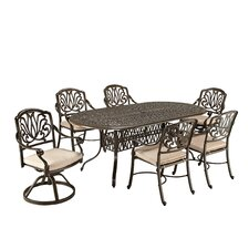 Floral Blossom 7 Piece Dining Set with Cushions