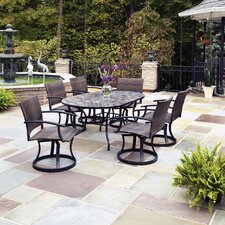 Stone Harbor 7 Piece Dining Set with Newport Swivel Chairs