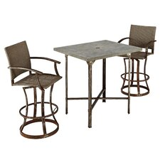 Urban Outdoor 3 Piece Bar Height Dining Set