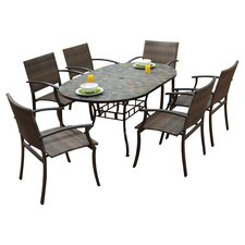 <strong>Home Styles</strong> Stone Harbor 7 Piece Dining Set