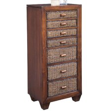 Cabana Banana Jewelry Armoire with Mirror